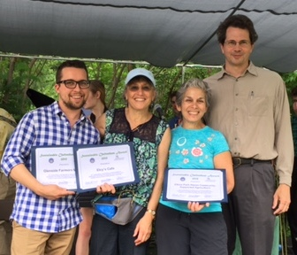 Elcy's Cafe and Elkins Park Hazon CSA win 2015 Sustainable Cheltenham Awards